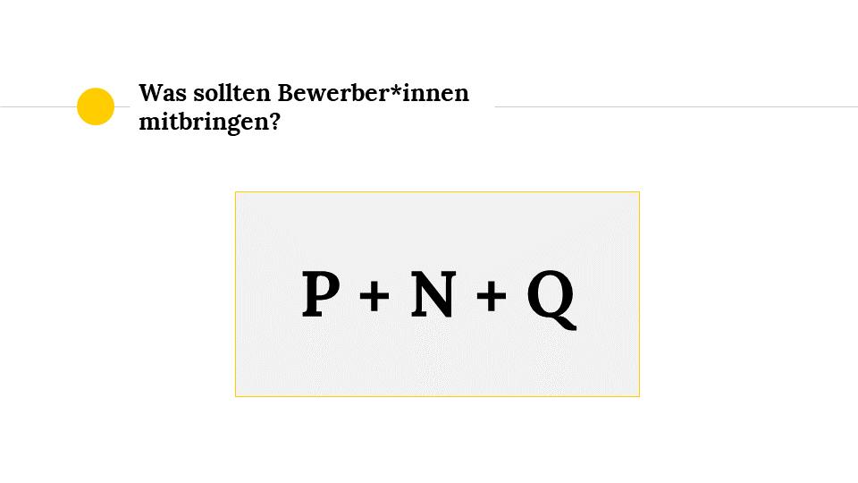 P+N+Q-Formel